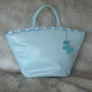 RADLEY LONDON Pastel Blue Leather Grab Bag